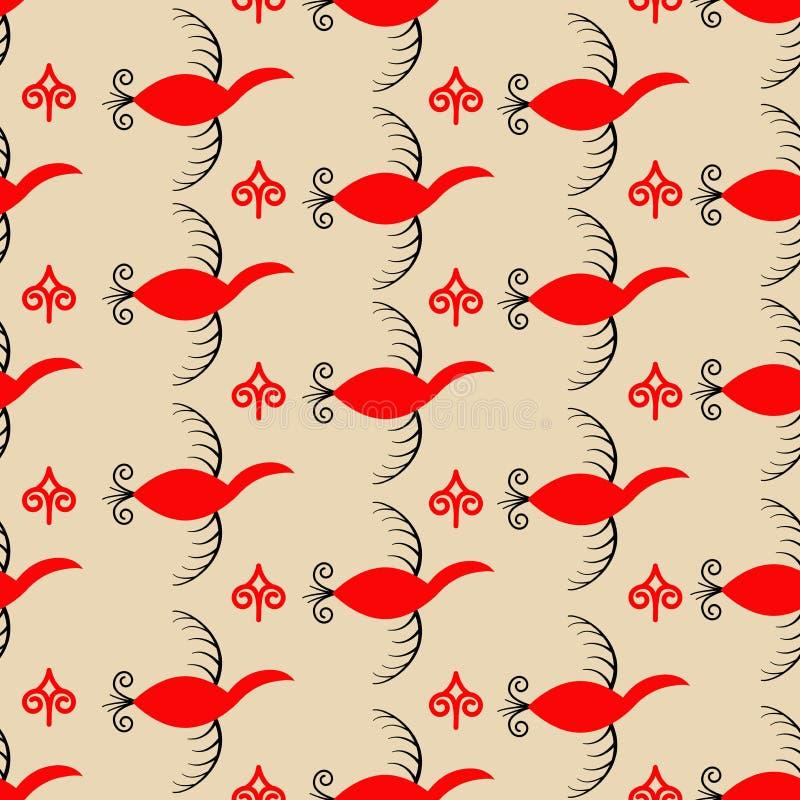 Patroon met elementen van meson het schilderen royalty-vrije illustratie