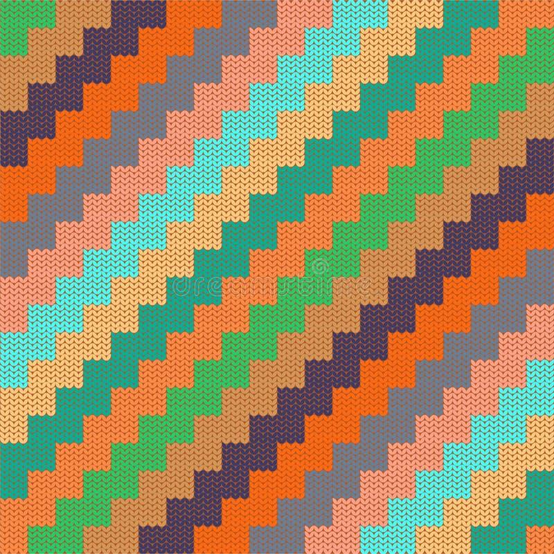 Patroon met gebreide zigzag royalty-vrije illustratie