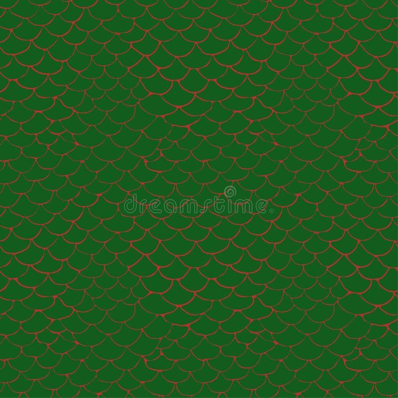 Patroon met gestileerde krokodilhuid stock illustratie