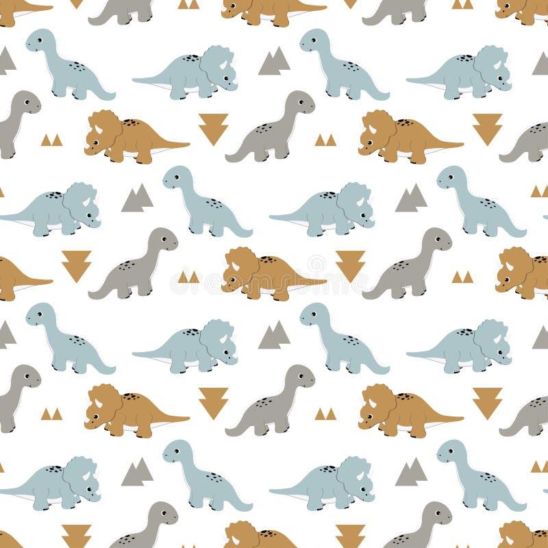 Patroon met grappige dinosaurussen vector illustratie