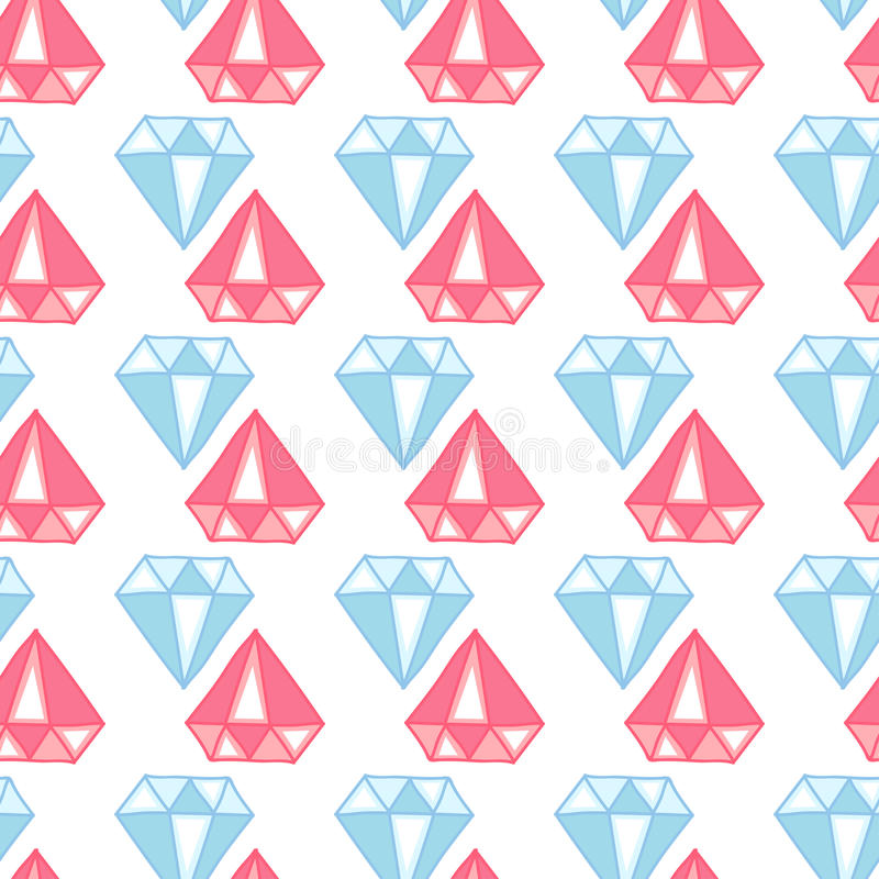 Patroon met hand getrokken diamant Leuke Achtergrond vector illustratie