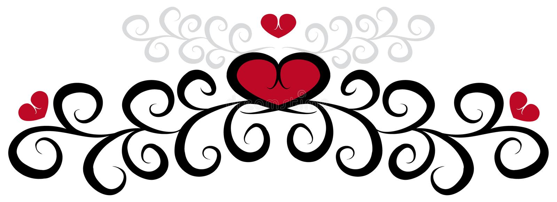 Patroon met harten royalty-vrije illustratie