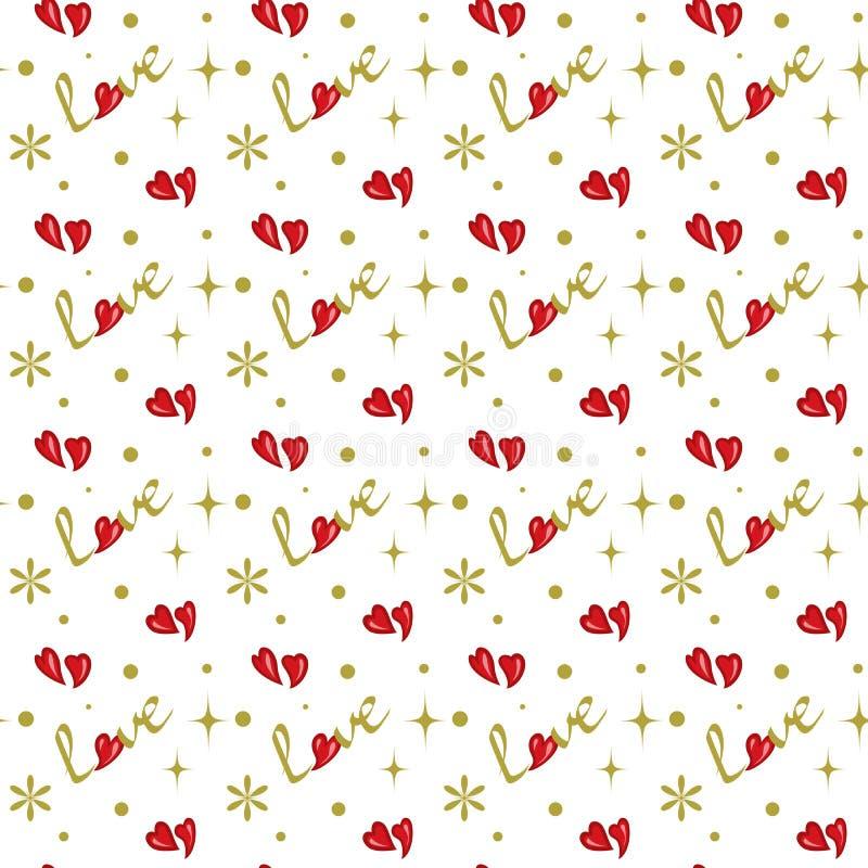 Patroon met harten royalty-vrije stock foto