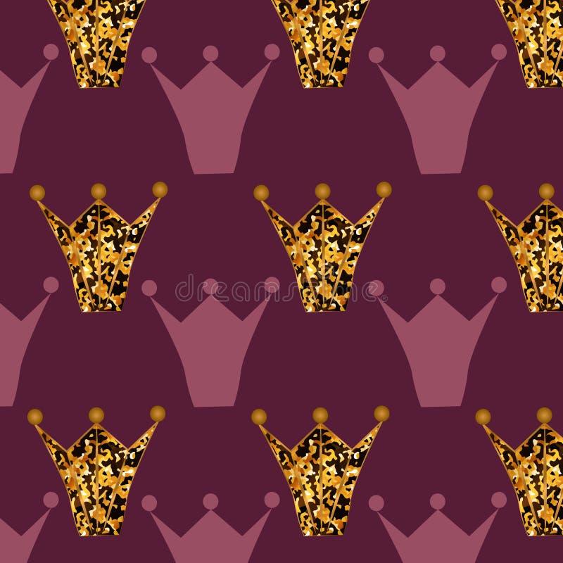 Patroon met het gouden schitteren stock illustratie