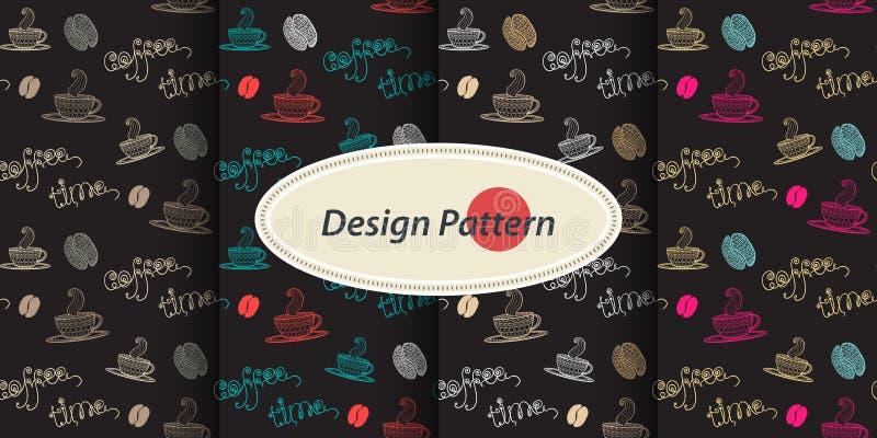 Patroon met koffie vector illustratie
