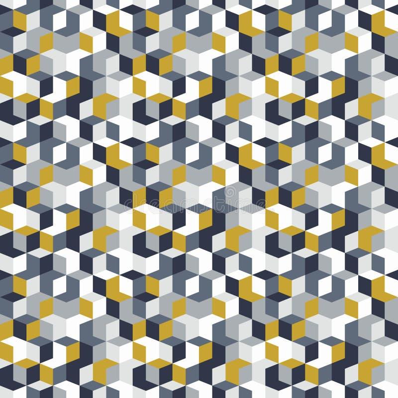 Patroon met kubussen in willekeurige kleuren vector illustratie