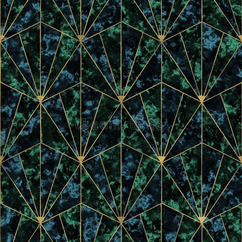 Patroon met marmer vector illustratie