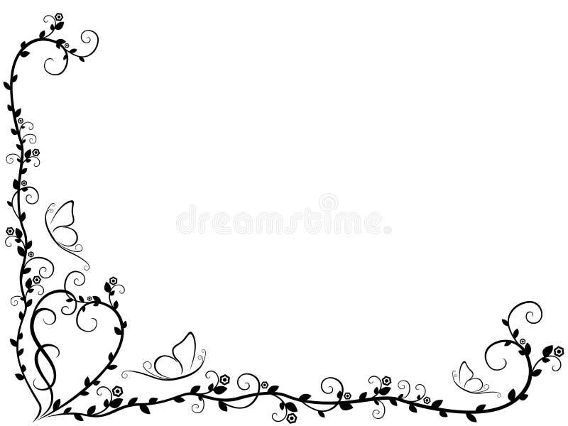 Patroon met overladen bloemenelementen royalty-vrije illustratie