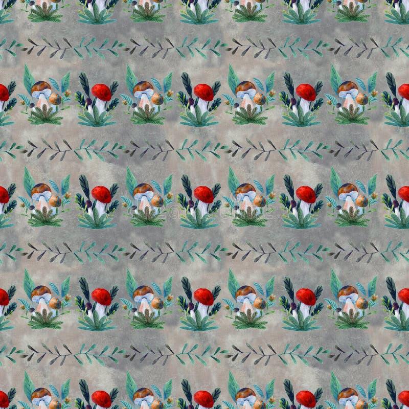Patroon met paddestoelen vector illustratie