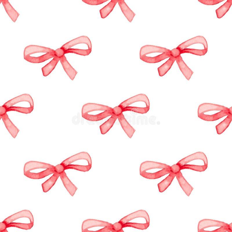 Patroon met rode boog vector illustratie