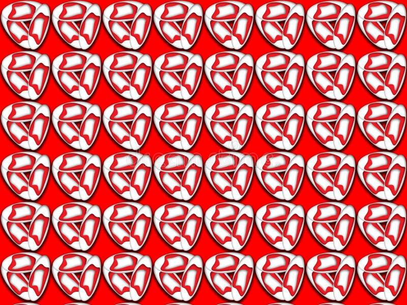 Patroon met rode decoratieve elementen vector illustratie