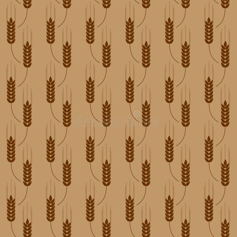 Patroon met tarwe vector illustratie