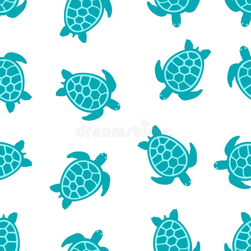 Patroon met turkooise schildpadden vector illustratie