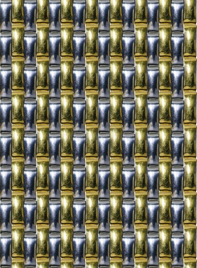Patroon - Metaalhorlogearmband stock foto
