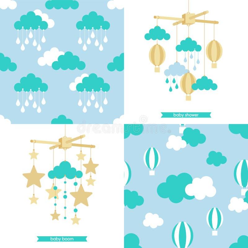 Patroon mobiele reeks 2 stock illustratie