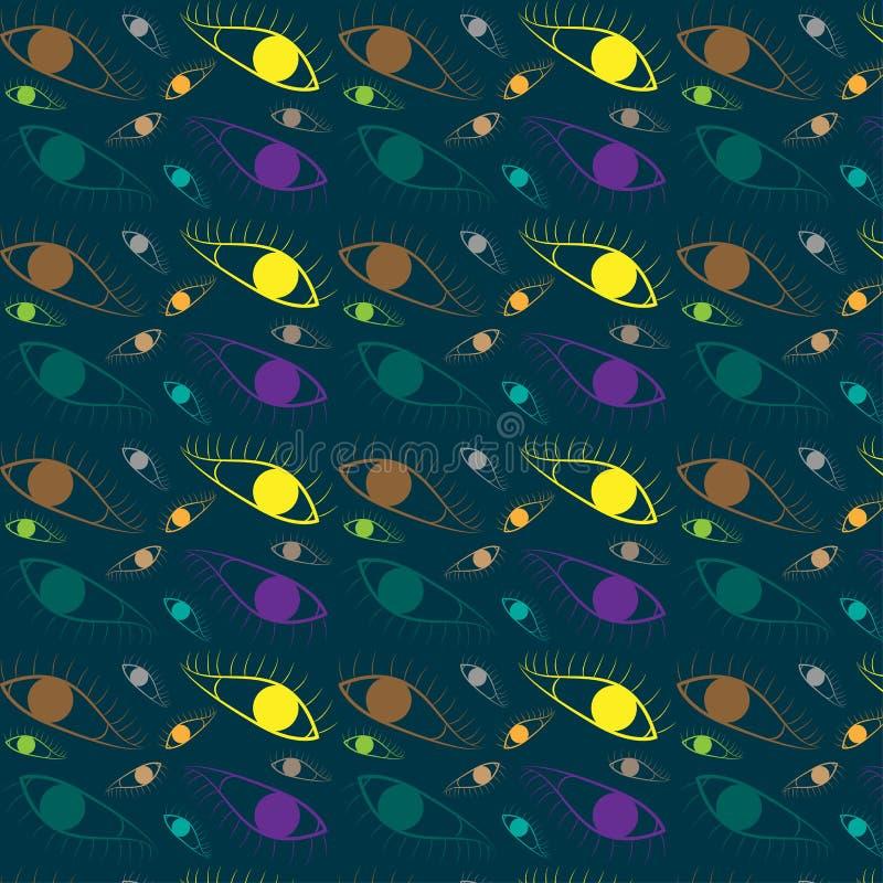Patroon naadloze reeks kleurrijke ogen illustratie eps10 royalty-vrije illustratie