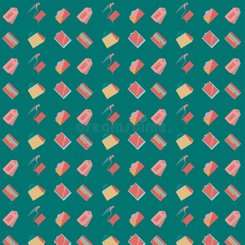 patroon naadloze reeks van van de bedrijfs vervoerlevering marketing concept Vector illustratie EPS10 stock illustratie