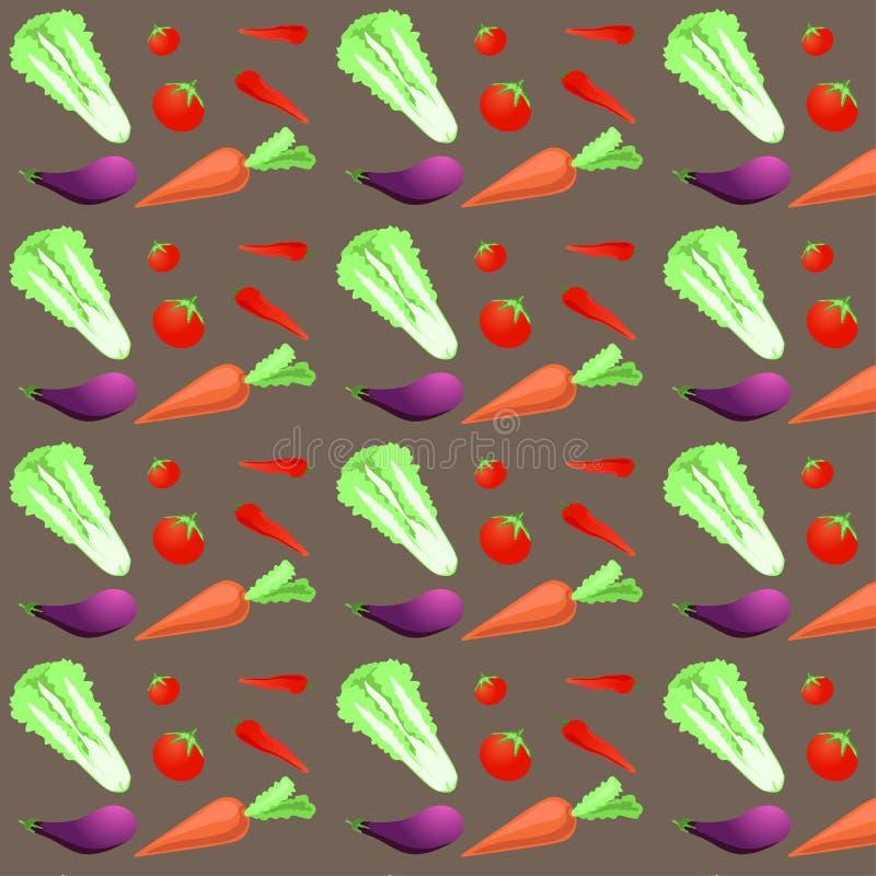 patroon naadloze reeks van groente kleurrijke ontwerpstijl Vector illustratie EPS10 vector illustratie
