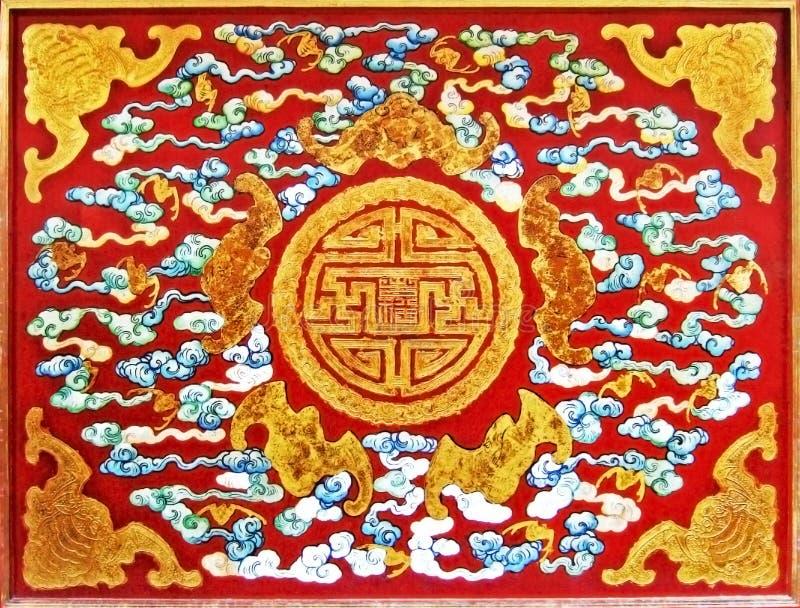 Patroon op een deur royalty-vrije stock afbeelding
