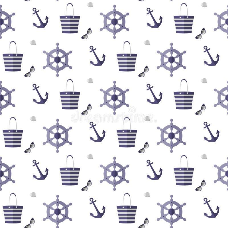 Patroon op het overzeese thema vector illustratie