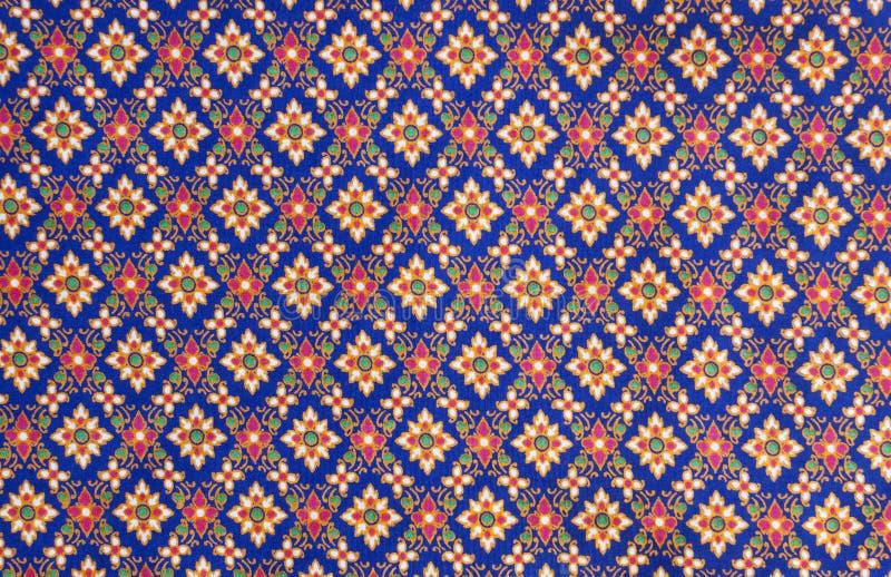 Patroon op Thaise doek stock fotografie