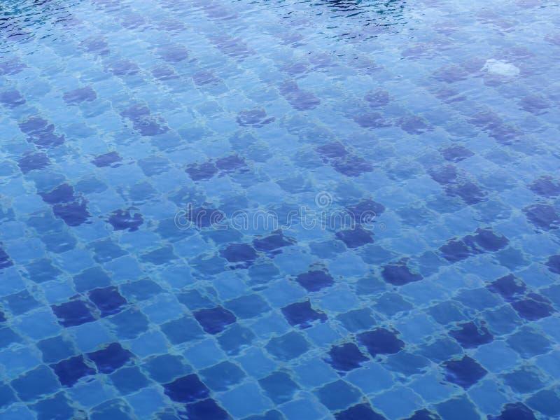 Patroon op zwembadachtergrond royalty-vrije stock afbeelding