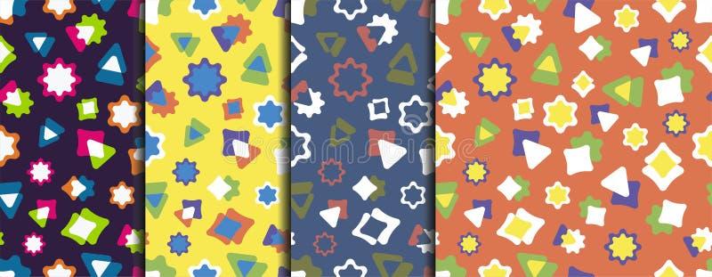 Patroon 10 a-reeks kleurrijke pretpatronen royalty-vrije illustratie