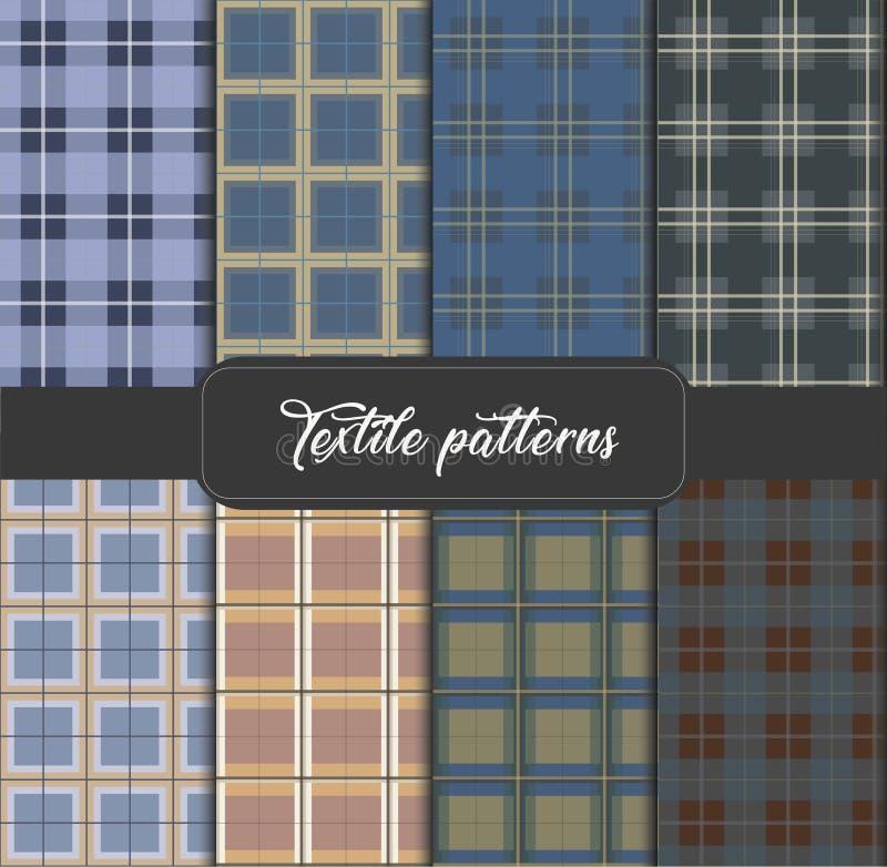 PATROON 17 Reeks naadloze Textielachtergronden royalty-vrije illustratie