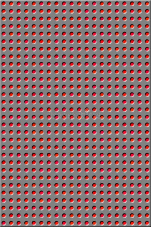 Patroon - rode gaten royalty-vrije stock afbeelding