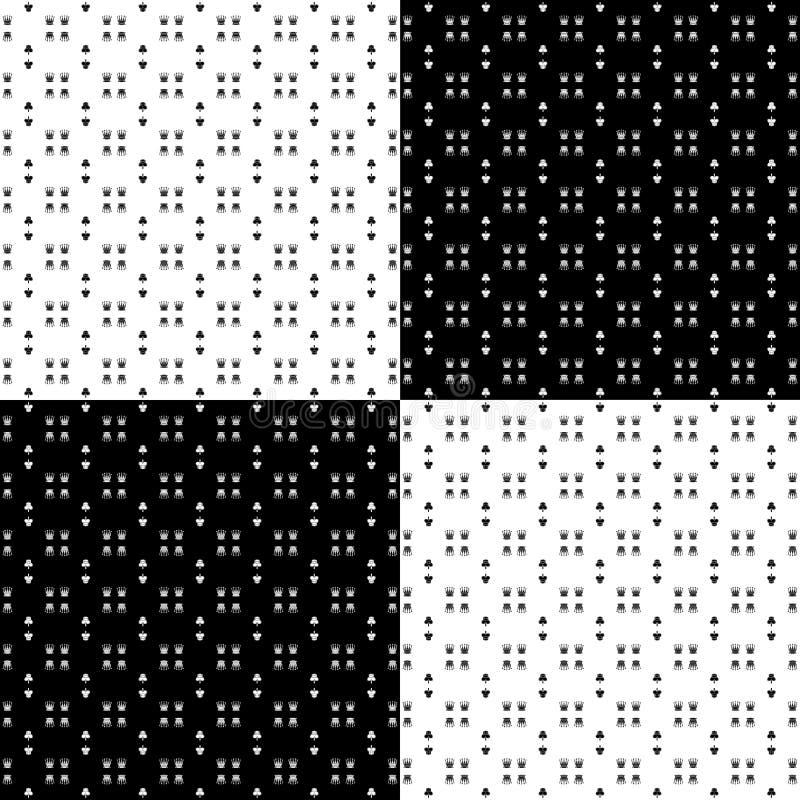 Patroon - schaakstukken in zwart-wit royalty-vrije stock foto's