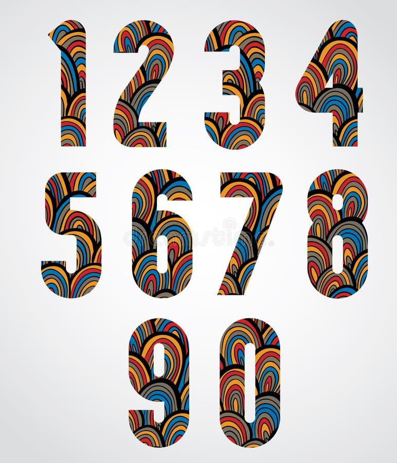Patroon sier kleurrijke abstracte aantallen vector illustratie