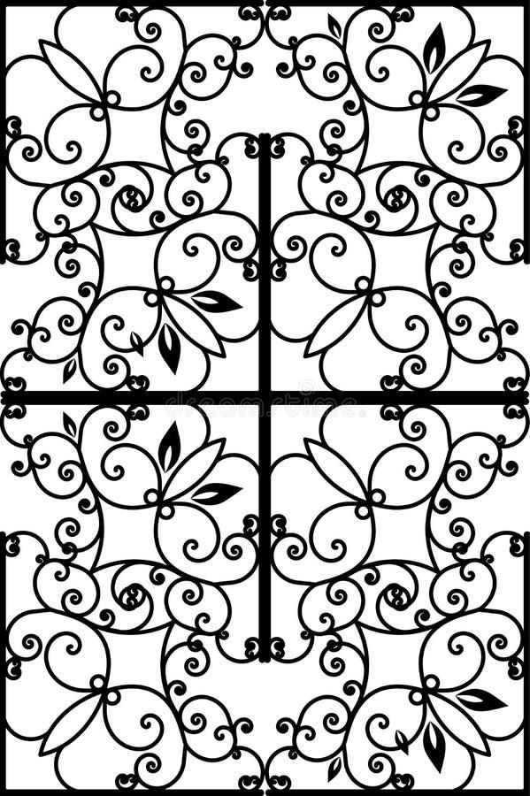 Patroon uitstekende zwarte vector victorian achtergrond stock illustratie