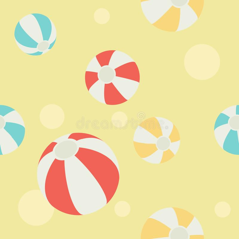 Patroon van beachball vector illustratie