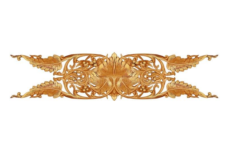 Patroon van bloem op hout voor decoratie wordt gesneden die stock afbeeldingen