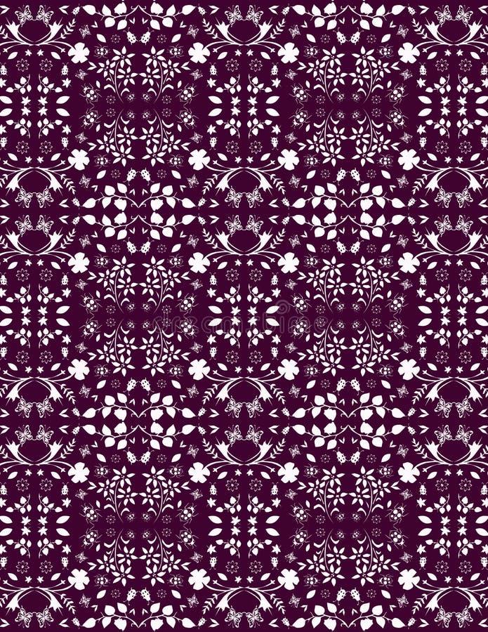 Patroon van bloemtuin stock afbeelding