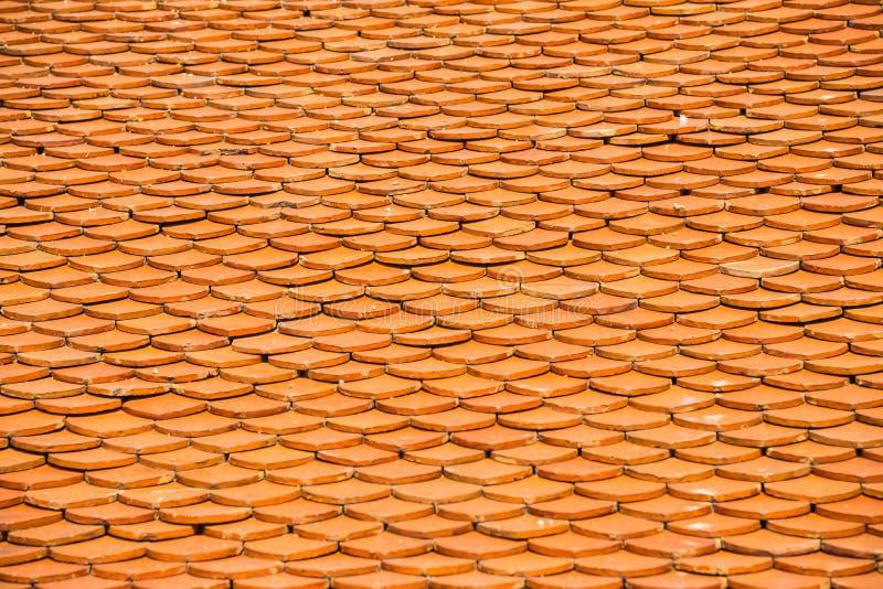 Patroon van bruin ceramisch dak royalty-vrije stock afbeeldingen