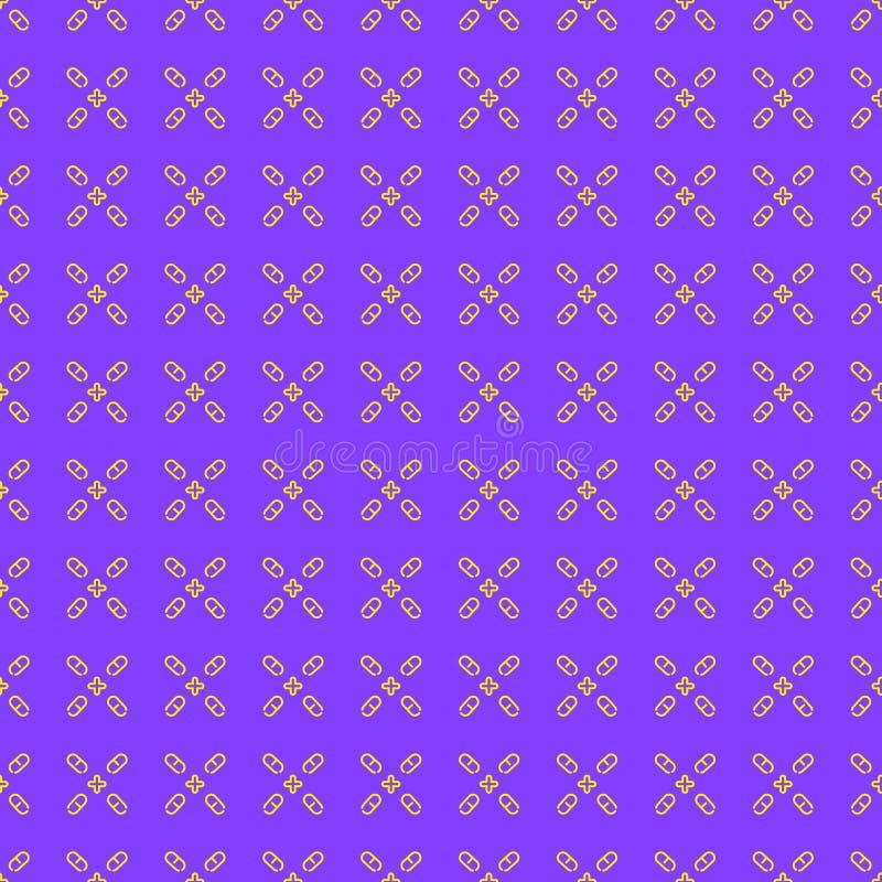 Patroon van capsule het lineaire pillen vector illustratie