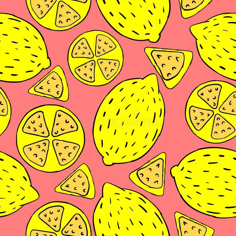 Patroon van citroenen stock illustratie