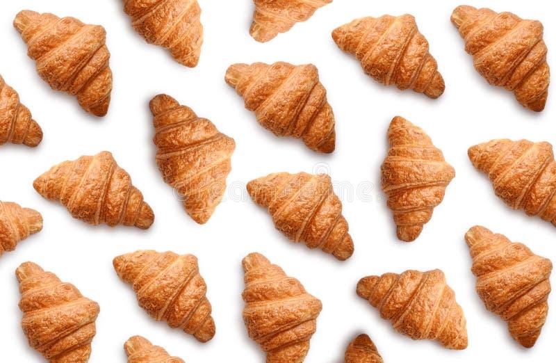 Patroon van croissants stock afbeeldingen