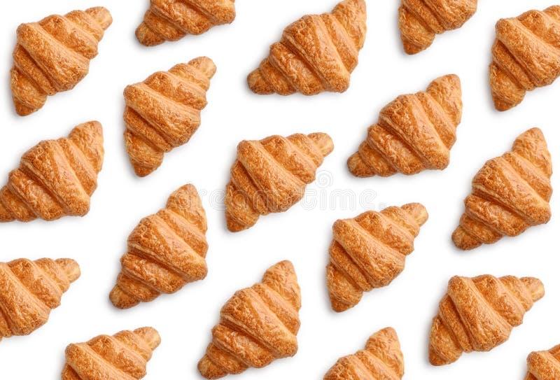 Patroon van croissants royalty-vrije stock afbeelding