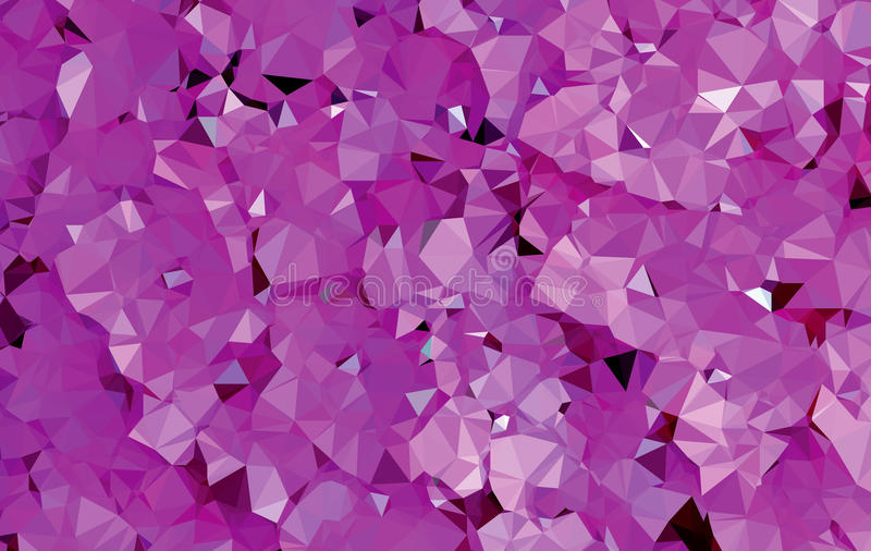 Patroon van de achtergrond het abstracte purpere driehoeksmeetkunde stock illustratie