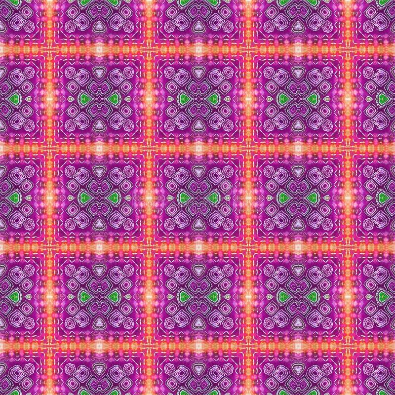 Patroon van de achtergrond het Naadloze Bandkleurstof royalty-vrije illustratie