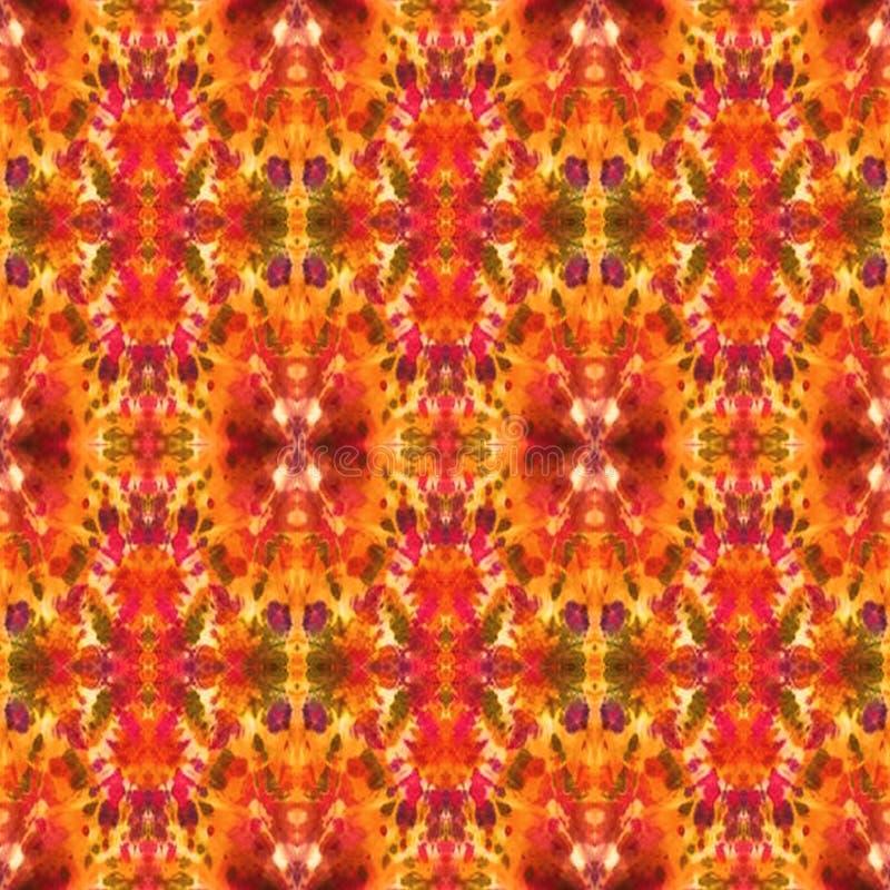 Patroon van de achtergrond het Naadloze Bandkleurstof vector illustratie
