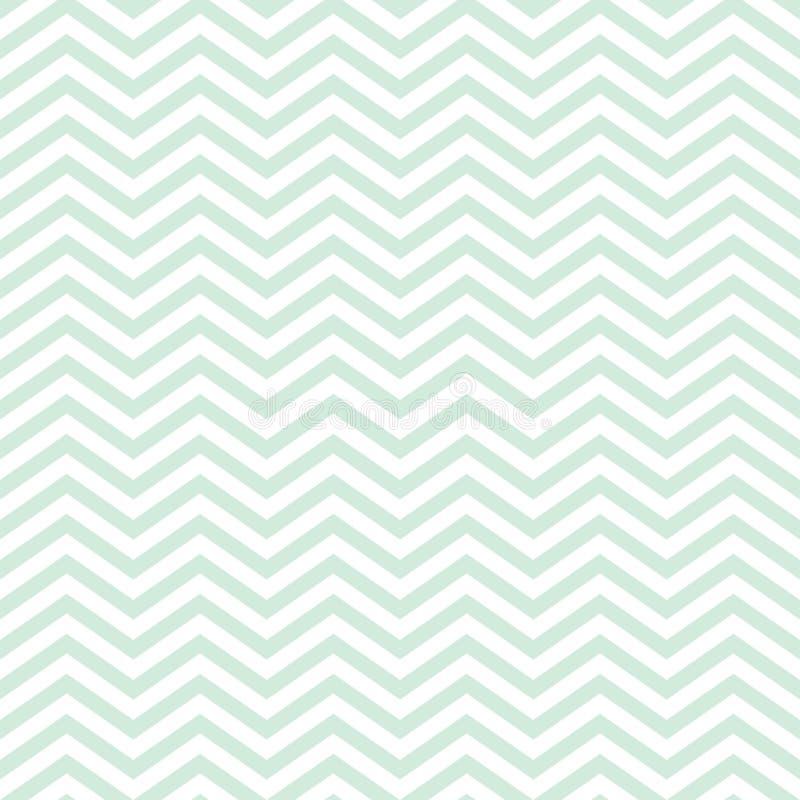 Patroon van de chevron het Naadloze Baby met Groen Zig Zag stock afbeeldingen