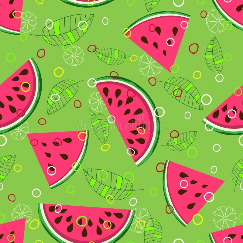 Patroon 1 van de fruitmengeling vector illustratie