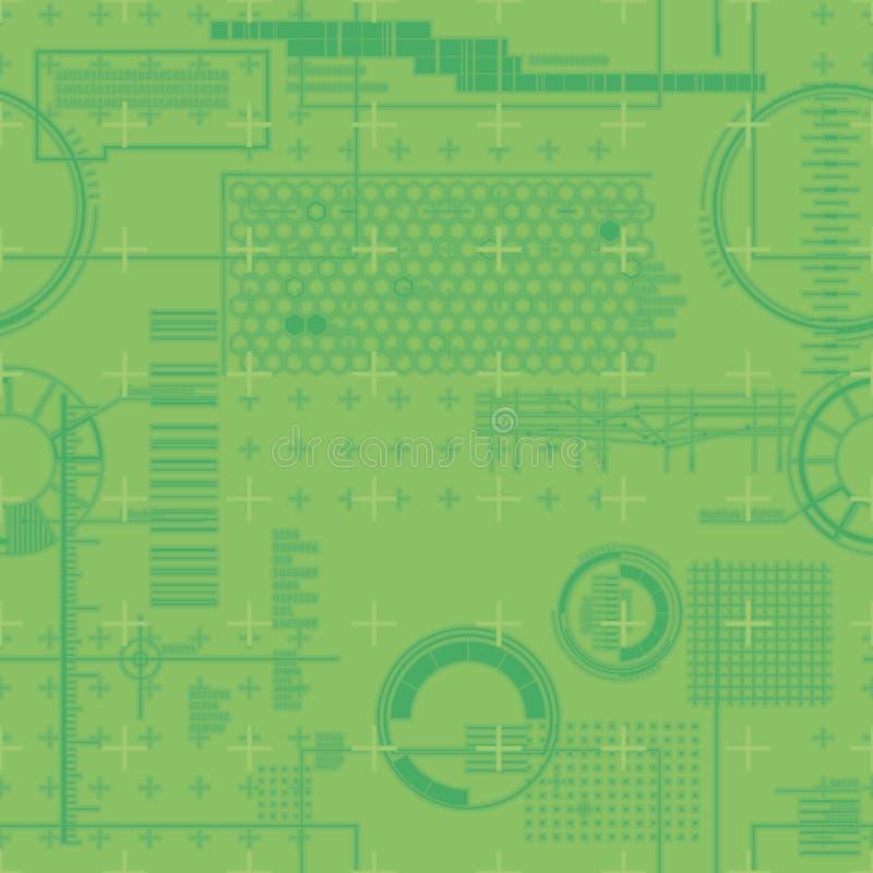 Patroon van de grafiek van de computermonitor royalty-vrije stock afbeeldingen