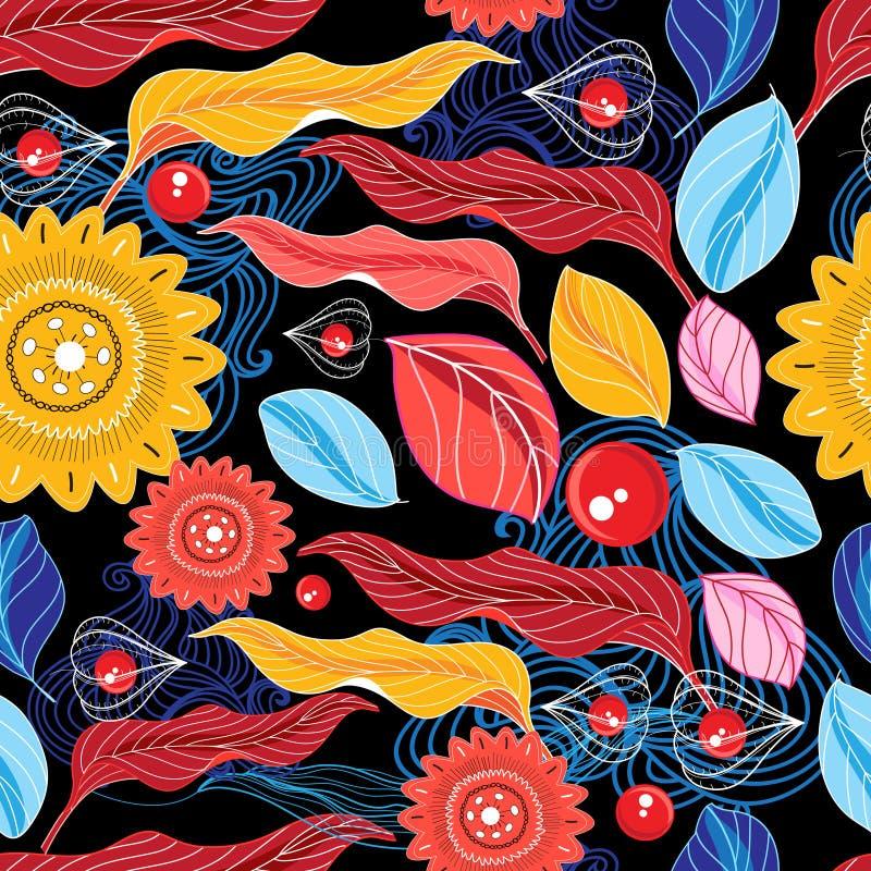 Patroon van de de herfst het naadloze kleur stock illustratie