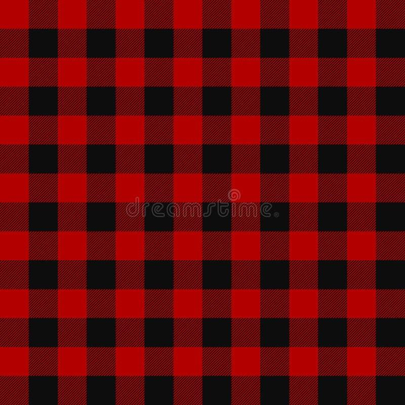 Patroon van de houthakkers het naadloze plaid royalty-vrije stock afbeelding