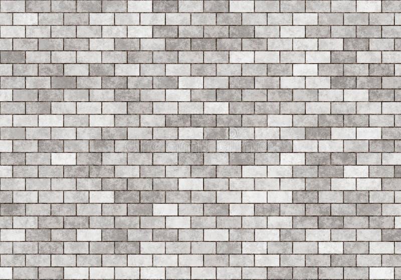 Patroon van de huren het grijze kleine bakstenen muur stock illustratie