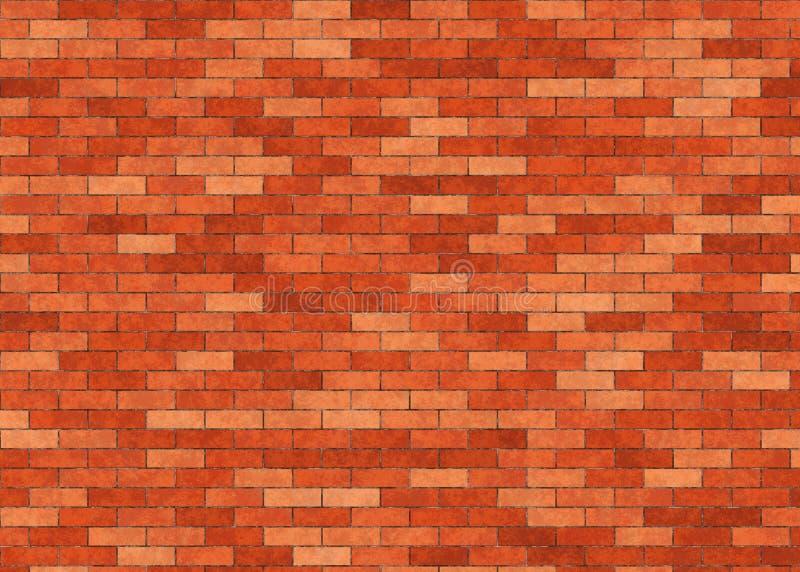 Patroon van de huren het rode kleine bakstenen muur stock illustratie